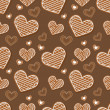 Background with hearts. — Vettoriali Stock