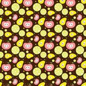 Vector fruit background. — Stock Vector