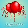Valentine's background with balloons — Grafika wektorowa