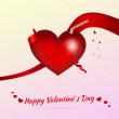 Royalty-Free Stock 矢量图片: Vector Valentine background with cocktail
