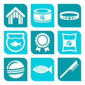 Collection of pet care icons — Stock Vector