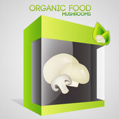 Vector illustration of mushrooms in packaged. — Stock Vector