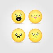 Cute smiles. — Stock Vector
