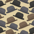 Vector background with hats. - Stock Vector