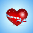 Vector background with heart for Valentine's day. — Stockvectorbeeld