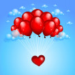 Valentine's background with balloons — Stock Vector #19185887