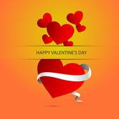 De fundo vector com coração dia dos namorados. — Vetorial Stock