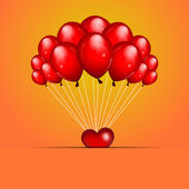 Valentine's background with balloons — Stock Vector