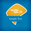 Vector yellow label on blue background. — Stockvectorbeeld