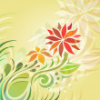 Royalty-Free Stock Vector Image: Vector background with abstract flowers.