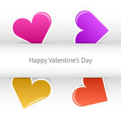 Vector valentines day card — Vecteur