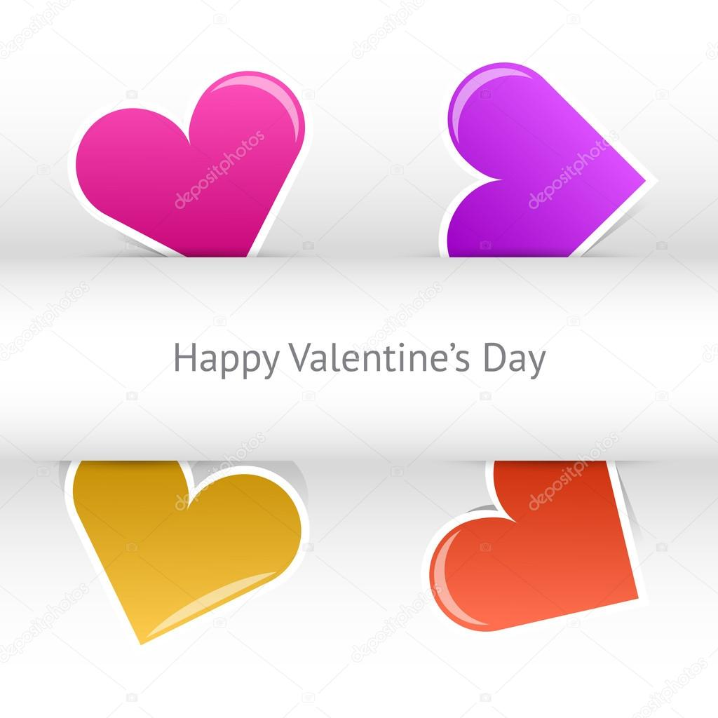 Vector valentines day card — Stock Vector #19232783