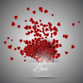 Valentine's day background with hearts. — Stock vektor