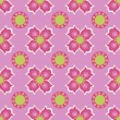 Seamless flower pattern background — Vector de stock #19274587