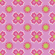 ストックベクタ: Seamless flower pattern background