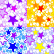 Vector colorful background with stars. — Vettoriali Stock