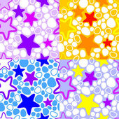 Vector colorful background with stars. — Vector de stock
