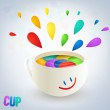 Colorful burst from a cup — Stock Vector #19281371