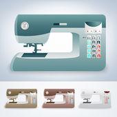 Coleção de máquinas de costura modernas — Vetor de Stock