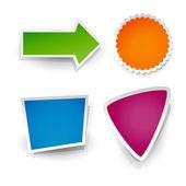Vector set of stickers. — Stock Vector