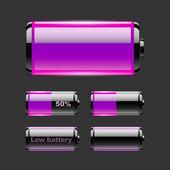 Vector conjunto de carga de la batería. — Vector de stock
