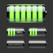 Vector set of battery charge. — Stock Vector
