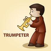 Trumpeter. — Stock Vector