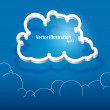 Vector cloud icon. — Stock Vector #19452643