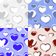 Background with hearts. — Stock Vector #19480517
