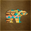 Bear decorative ornament — Imagen vectorial