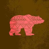 Bear decorative ornament — Stock Vector