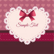 Vintage retro vector cute frame with heart — Stock Vector