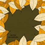 Autumn leaves. — Stock Vector