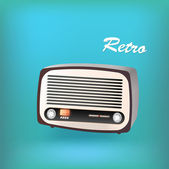 Retro radio. — Stock Vector