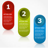 One two three options banners. — Stock Vector