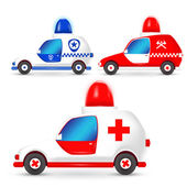 Vector a set of occupation cars — Stock Vector