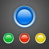 Set of colorful buttons. — Stock Vector