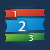 One two three - vector progress icons for three steps — Stock Vector