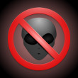 Stock Vector: Vector sign showing that no aliens are allowed