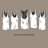 Grunge t-shirts. — Stock Vector