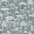 Royalty-Free Stock Vector Image: Mushrooms seamless pattern