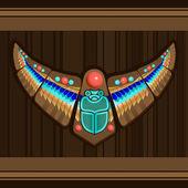 Oiseau - stylisation art amérindien — Vecteur