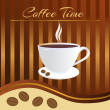 Stock Vector: Coffee time card
