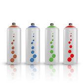 Spray tins — Stock Vector