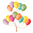Royalty-Free Stock Vector Image: Happy birthday card with balloons