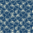 Cute seamless owl background pattern - Imagen vectorial
