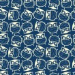 Vector de stock : Cute seamless owl background pattern