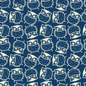 Cute seamless owl background pattern — Vecteur