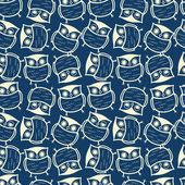 Pattern di sfondo simpatico gufo senza soluzione di continuità — Vettoriale Stock
