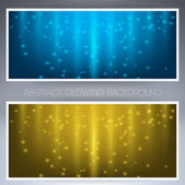 Frame with two bright yellow and blue colors — Stock Vector
